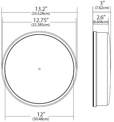 13 Inch Standard Clock