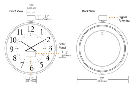 Solar Clocks Specifications