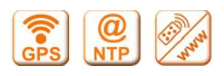 GPS - NTP (Network) - Infra-Red Remote Control