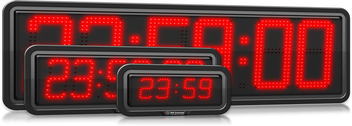 Weatherproof LED Digital Display Clocks