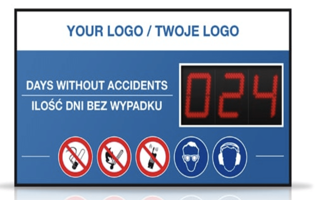 Days Without Accidents Sign