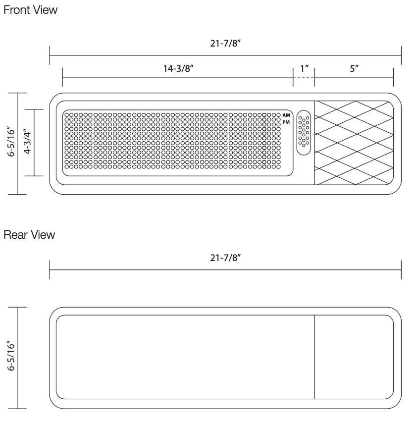 Multi Function Board Dimensions